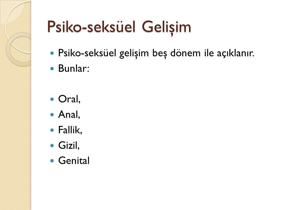 Psiko-seksüel Gelişim
