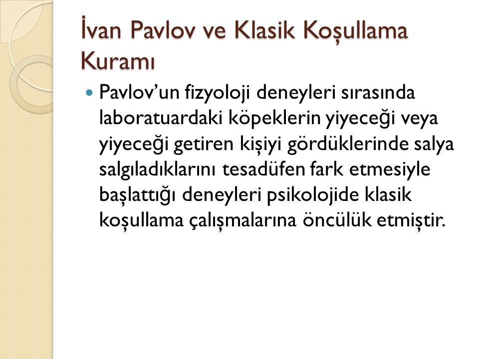İvan Pavlov ve Klasik Koşullama Kuramı