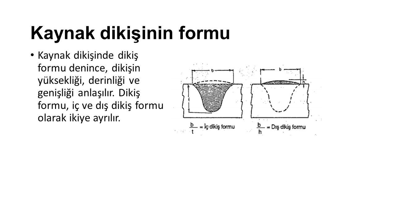Kaynak dikişinin formu