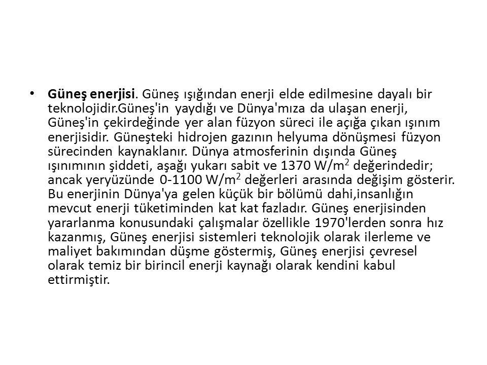 Güneş enerjisi.