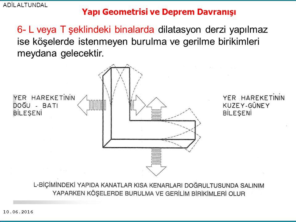 Yapı Geometrisi ve Deprem Davranışı