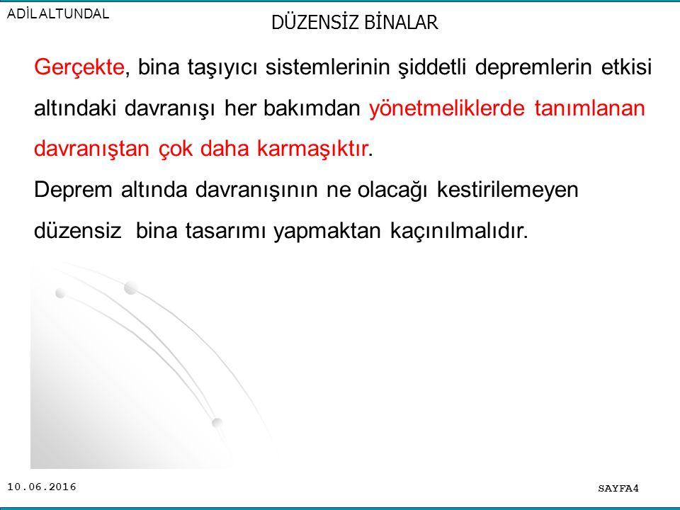 ADİL ALTUNDAL DÜZENSİZ BİNALAR.