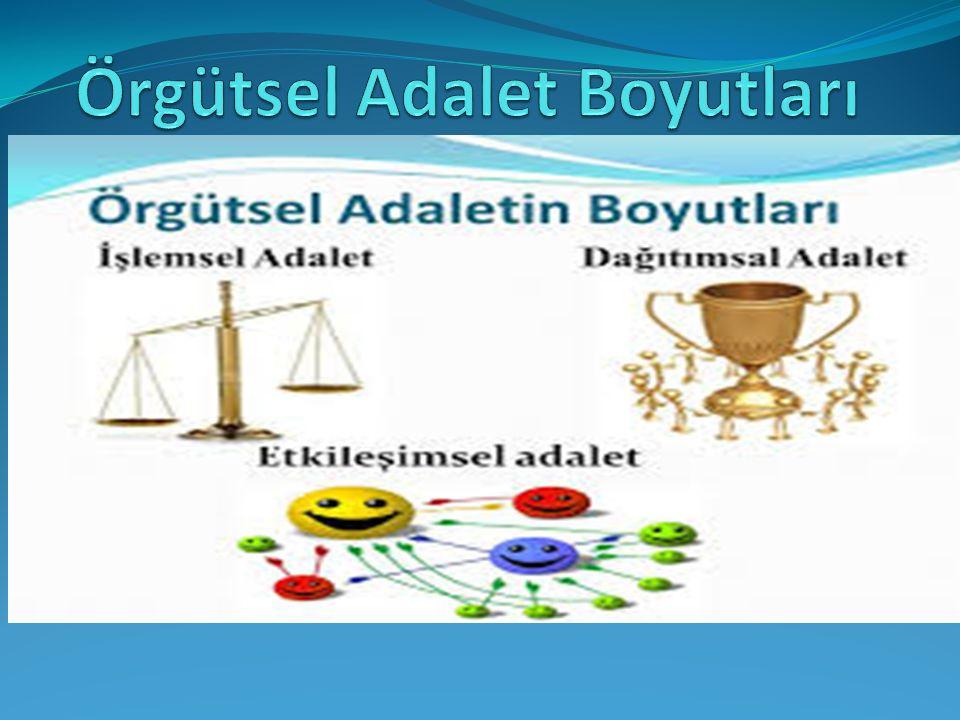 Örgütsel Adalet Boyutları