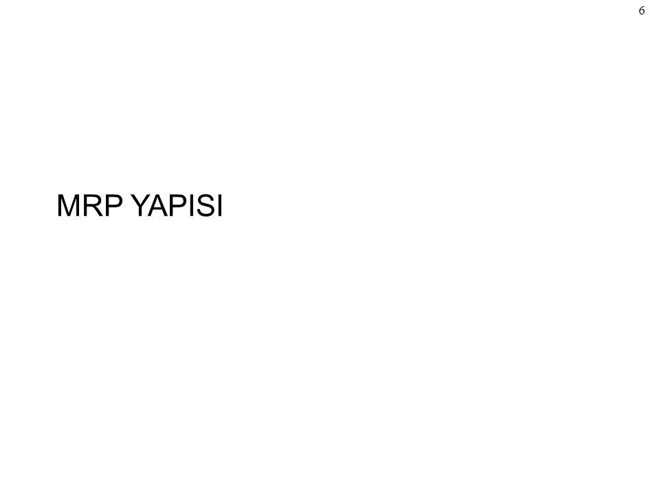 MRP YAPISI