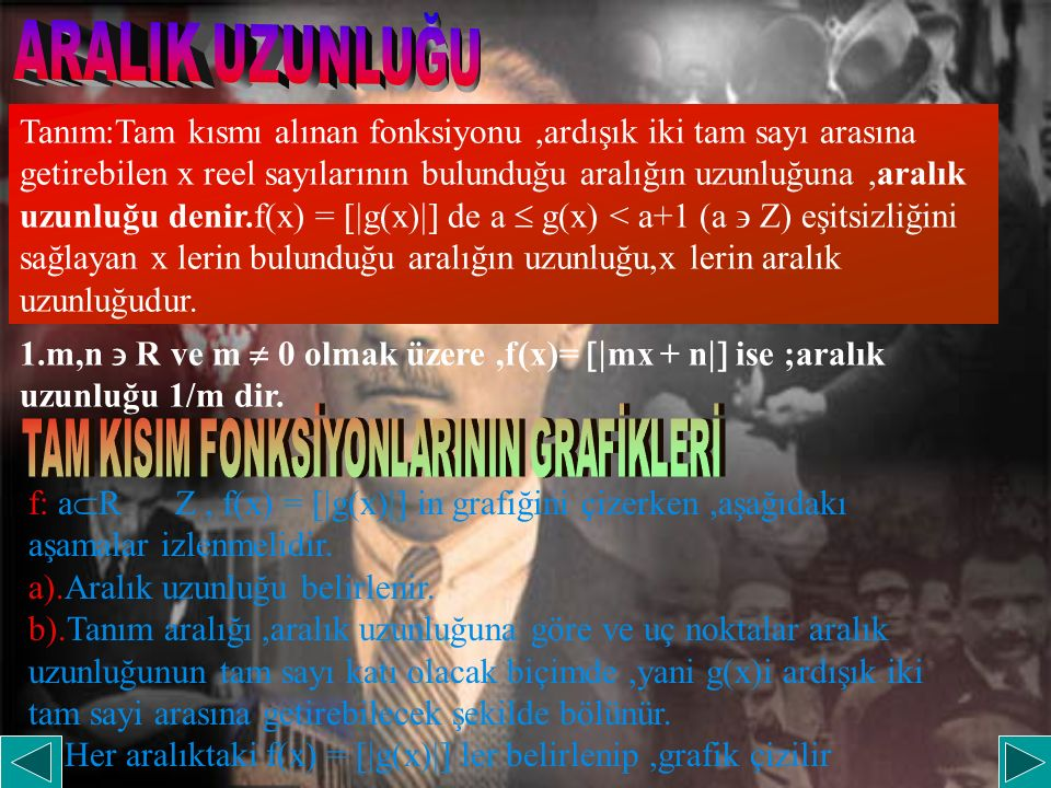 TAM KISIM FONKSİYONLARININ GRAFİKLERİ