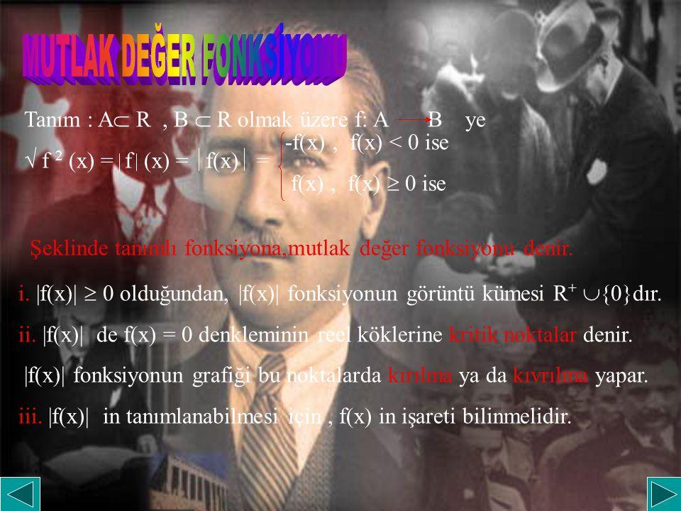 MUTLAK DEĞER FONKSİYONU