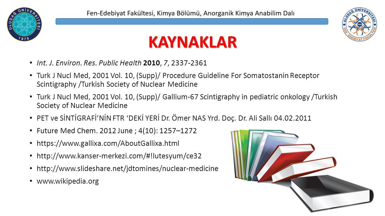 KAYNAKLAR Int. J. Environ. Res. Public Health 2010, 7, 2337-2361