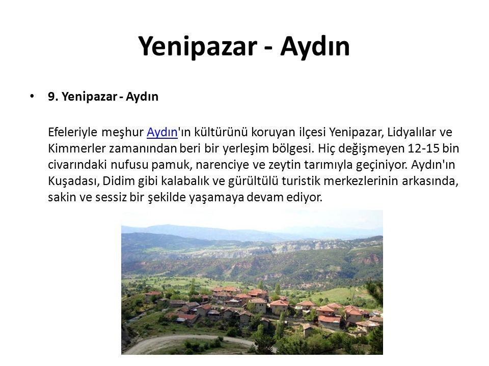 Yenipazar - Aydın 9. Yenipazar - Aydın