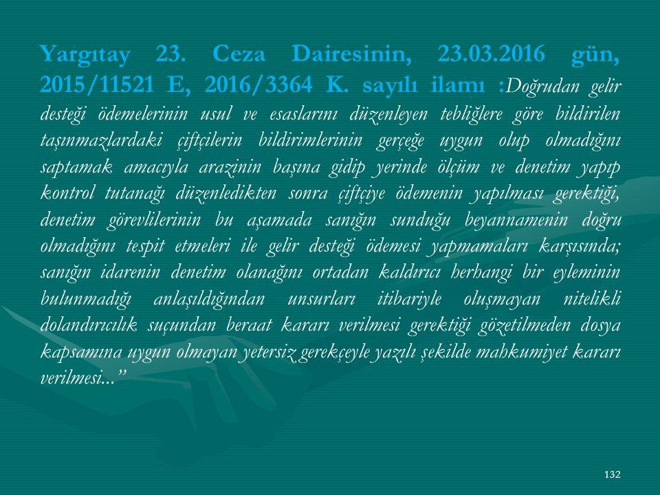 Yargıtay 23. Ceza Dairesinin, 23. 03
