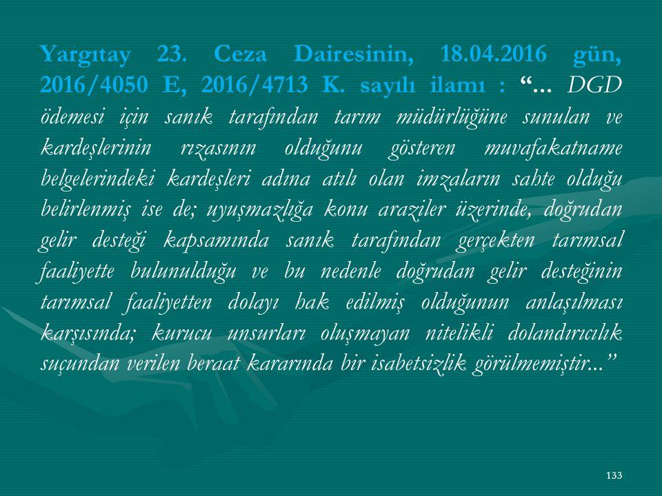 Yargıtay 23. Ceza Dairesinin, 18. 04