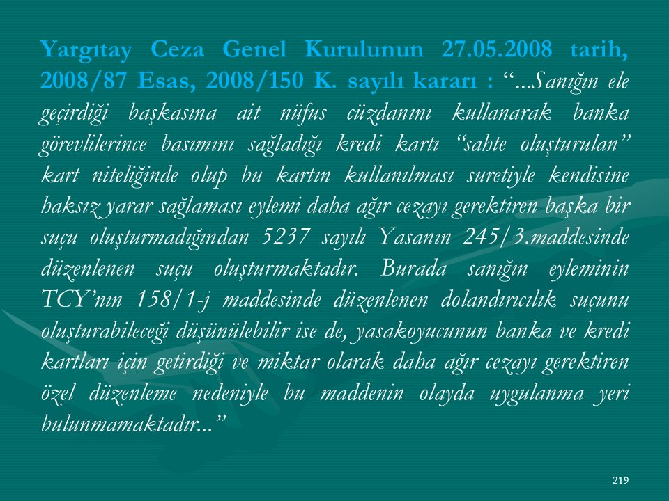 Yargıtay Ceza Genel Kurulunun 27. 05