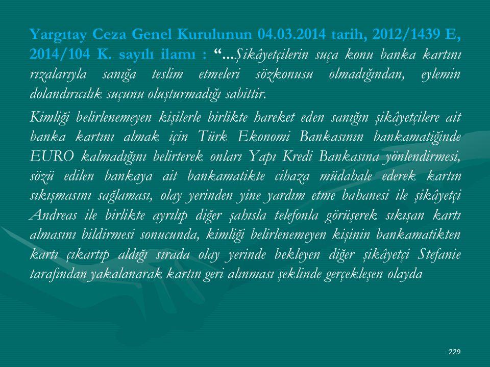 Yargıtay Ceza Genel Kurulunun 04. 03