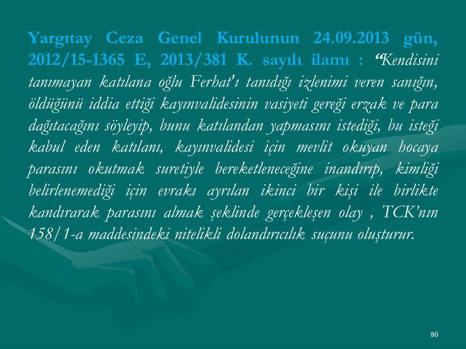 Yargıtay Ceza Genel Kurulunun 24. 09