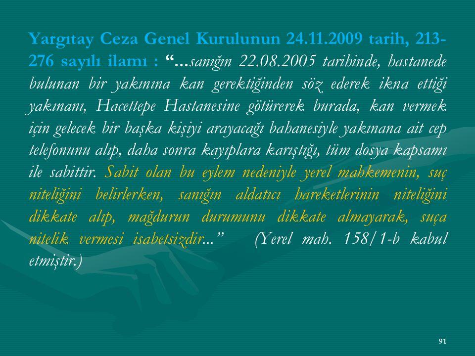 Yargıtay Ceza Genel Kurulunun 24. 11