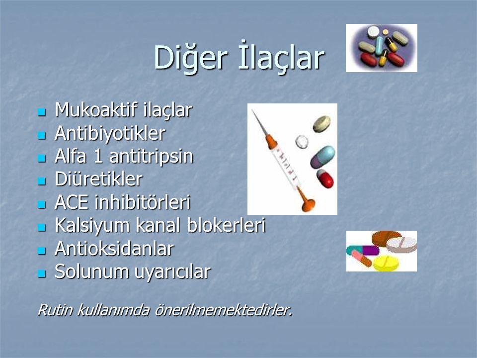 Diğer İlaçlar Mukoaktif ilaçlar Antibiyotikler Alfa 1 antitripsin