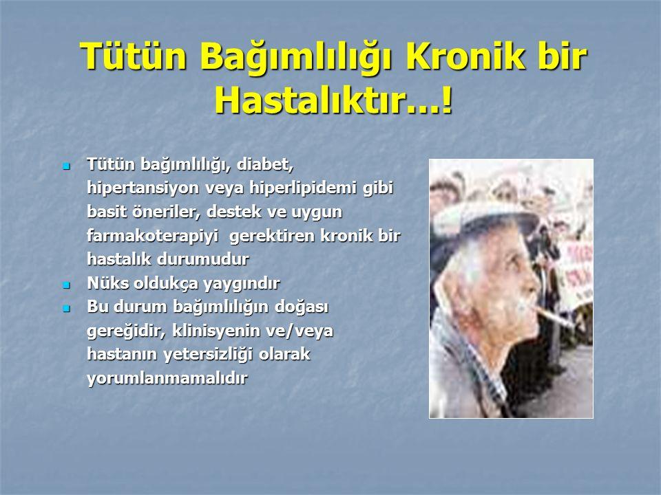 Tütün Bağımlılığı Kronik bir Hastalıktır...!