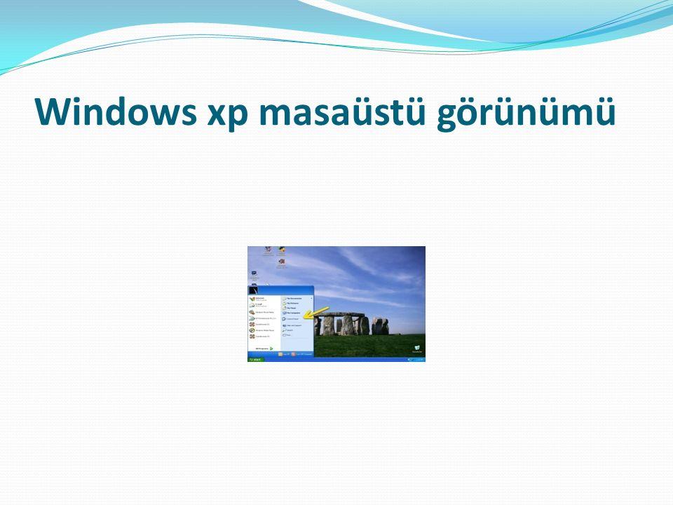 Windows xp masaüstü görünümü