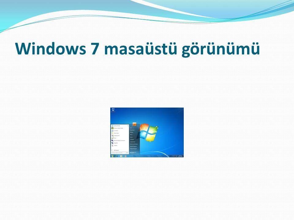 Windows 7 masaüstü görünümü