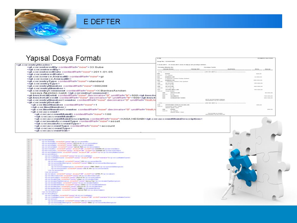 E DEFTER Yapısal Dosya Formatı