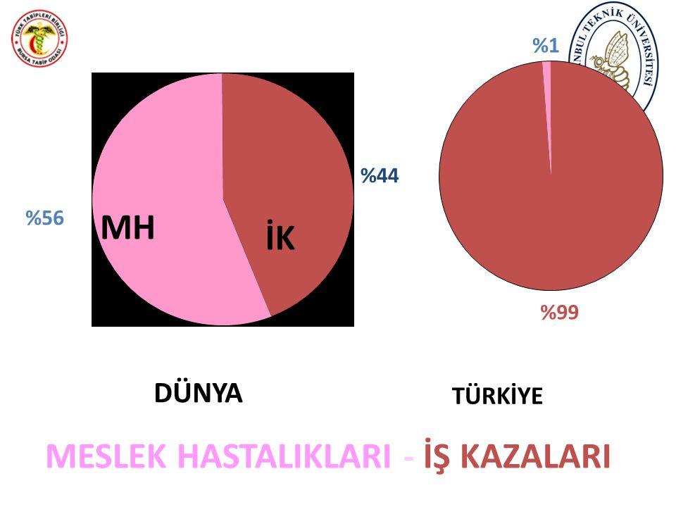MESLEK HASTALIKLARI - İŞ KAZALARI