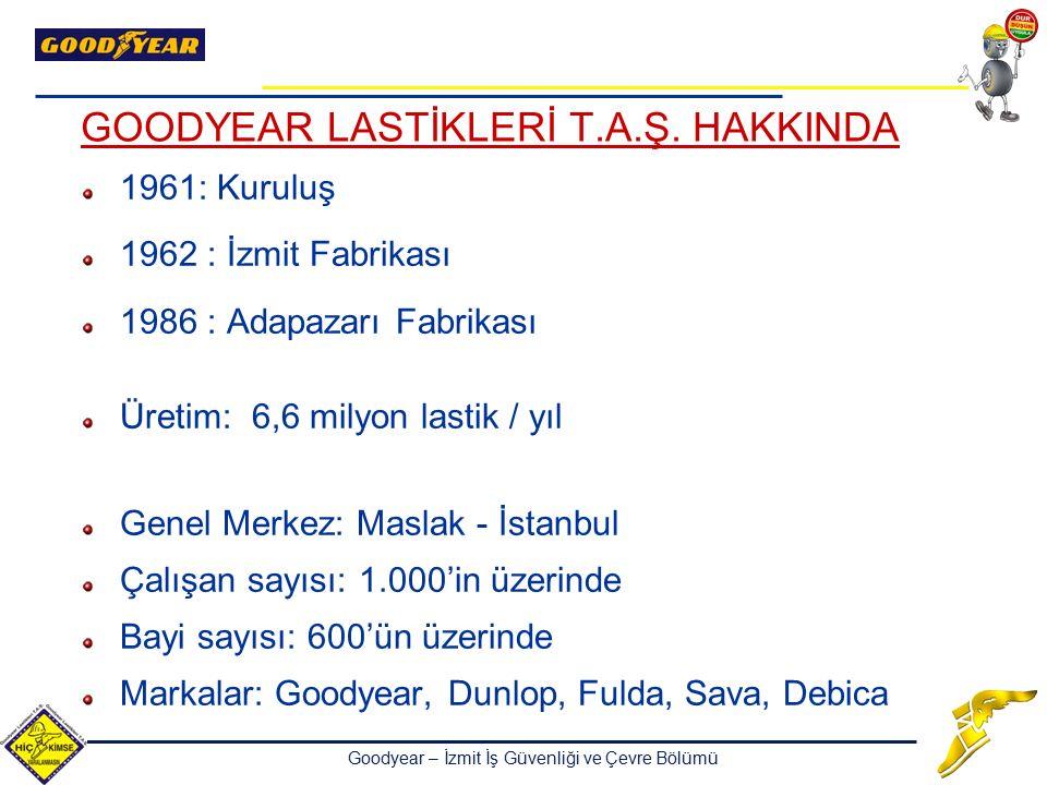 GOODYEAR LASTİKLERİ T.A.Ş. HAKKINDA