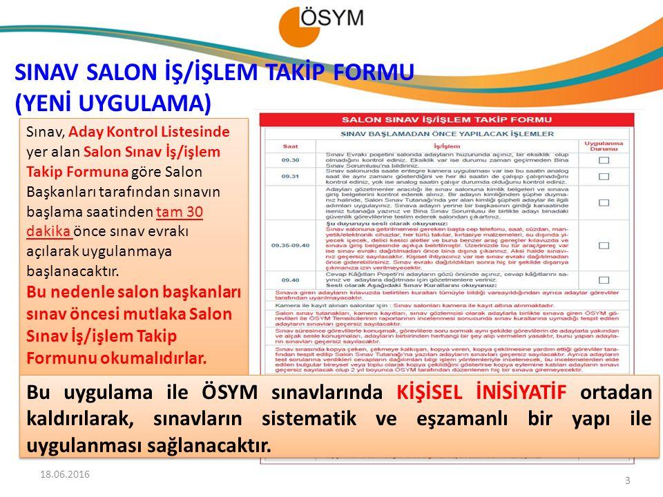 SINAV SALON İŞ/İŞLEM TAKİP FORMU (YENİ UYGULAMA)