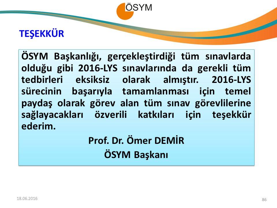 Prof. Dr. Ömer DEMİR ÖSYM Başkanı