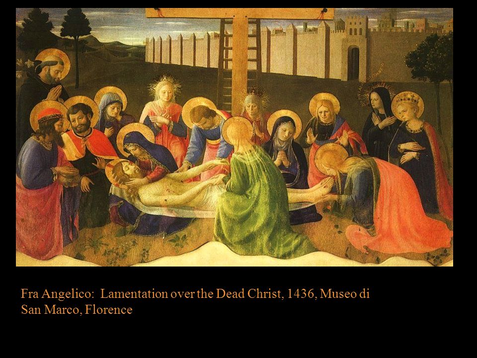 Fra Angelico: Lamentation over the Dead Christ, 1436, Museo di San Marco, Florence