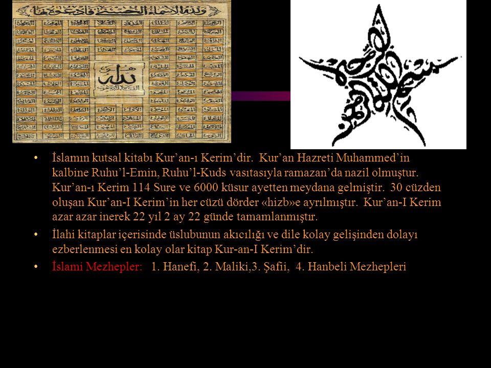 İslamın kutsal kitabı Kur'an-ı Kerim'dir