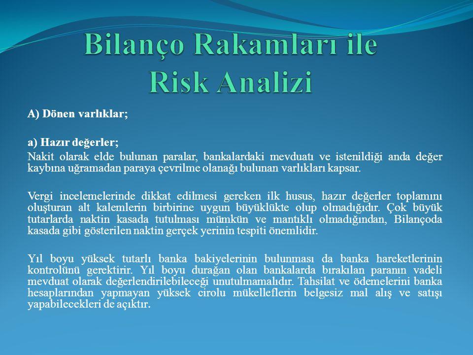 Bilanço Rakamları ile Risk Analizi