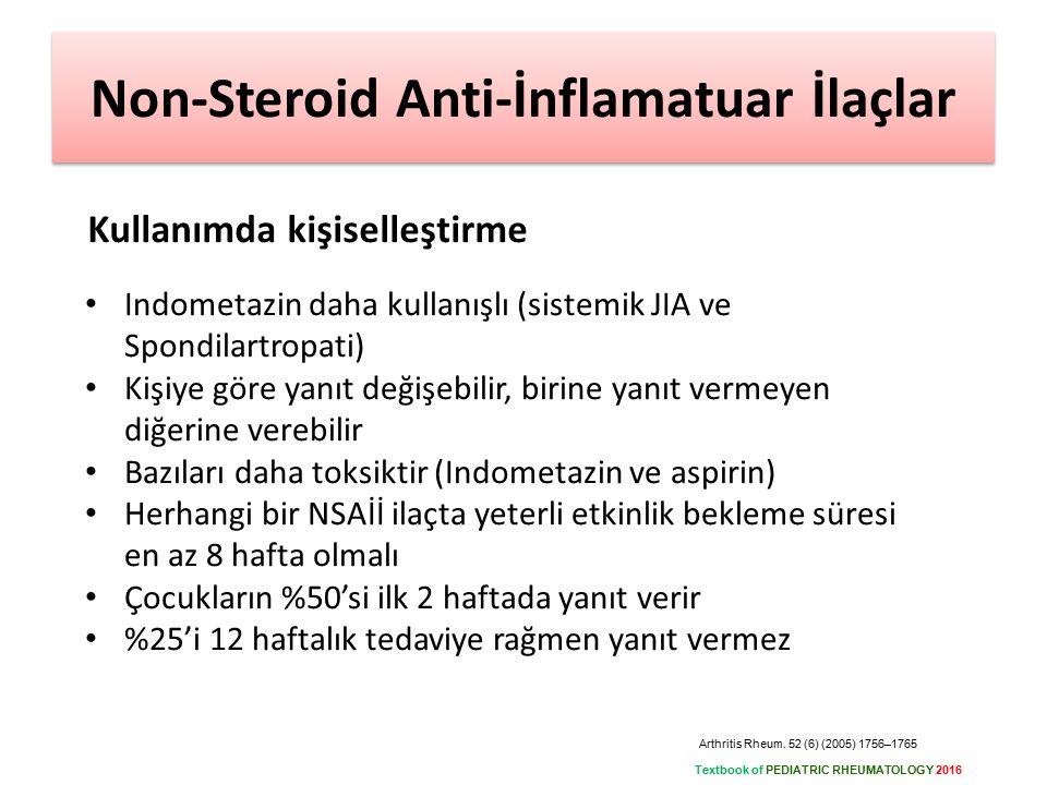 Non-Steroid Anti-İnflamatuar İlaçlar
