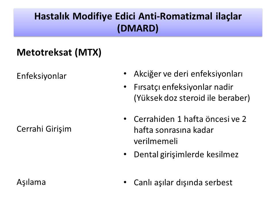 Hastalık Modifiye Edici Anti-Romatizmal ilaçlar (DMARD)