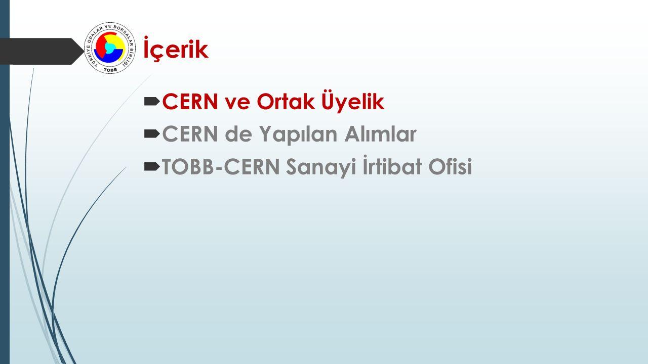 İçerik CERN ve Ortak Üyelik CERN de Yapılan Alımlar