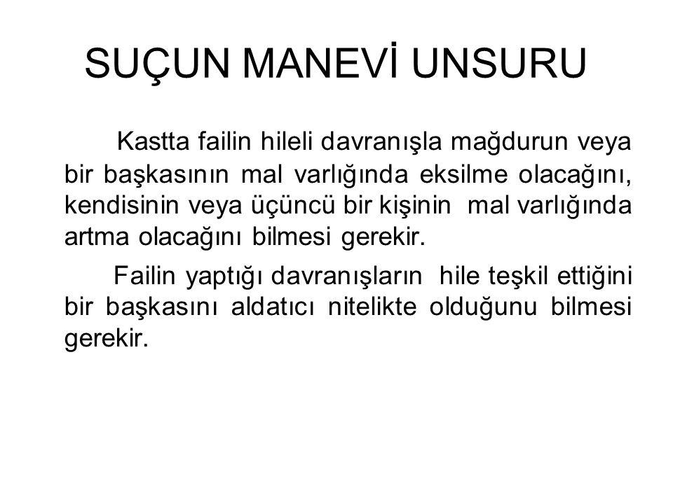 SUÇUN MANEVİ UNSURU