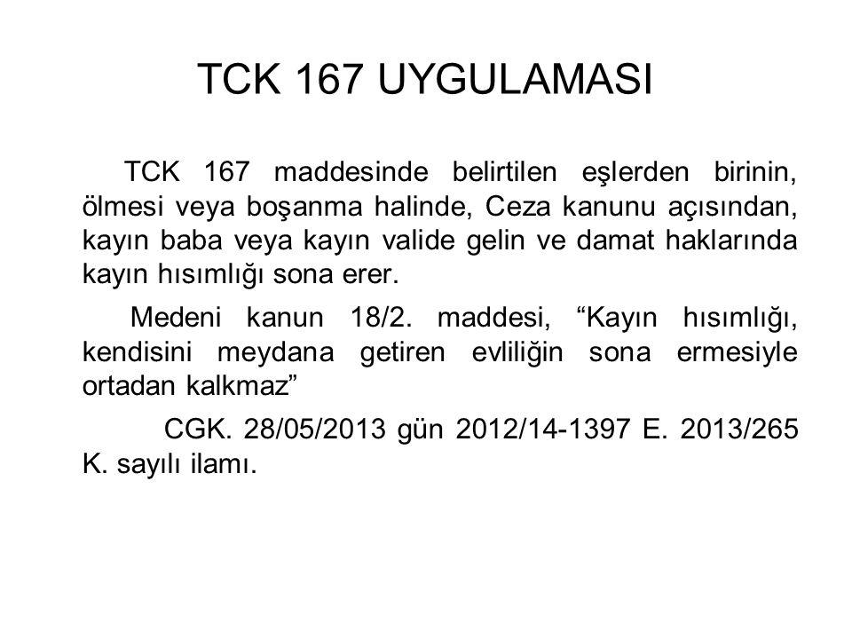 TCK 167 UYGULAMASI