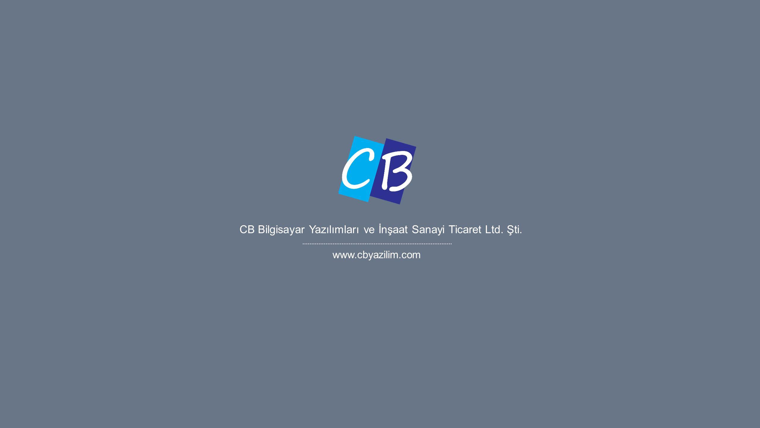 CB Bilgisayar Yazılımları ve İnşaat Sanayi Ticaret Ltd. Şti.