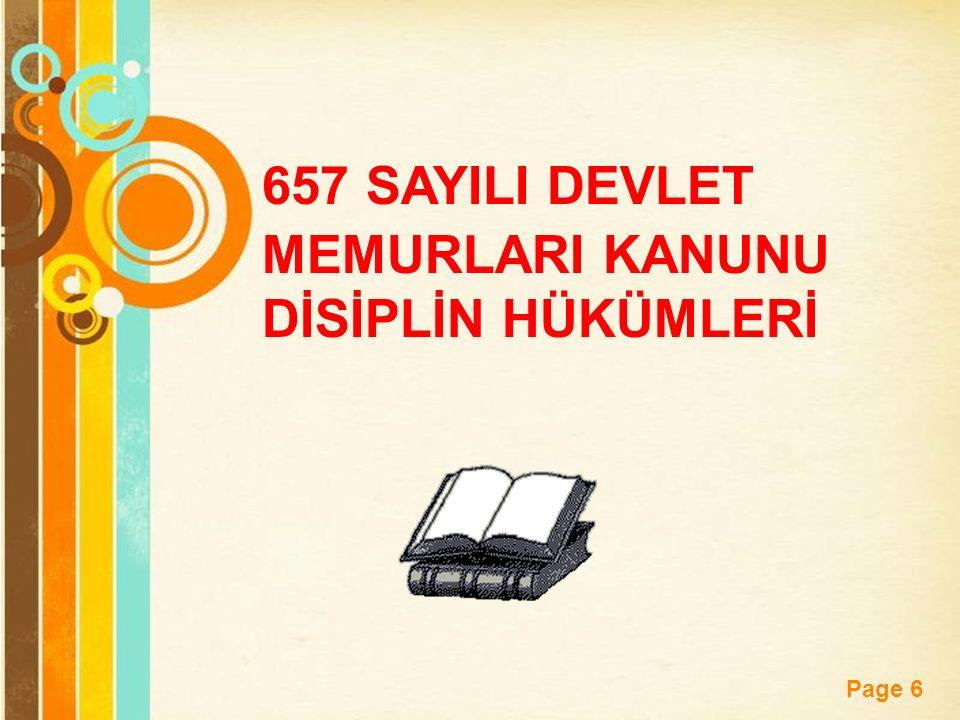 657 SAYILI DEVLET MEMURLARI KANUNU DİSİPLİN HÜKÜMLERİ