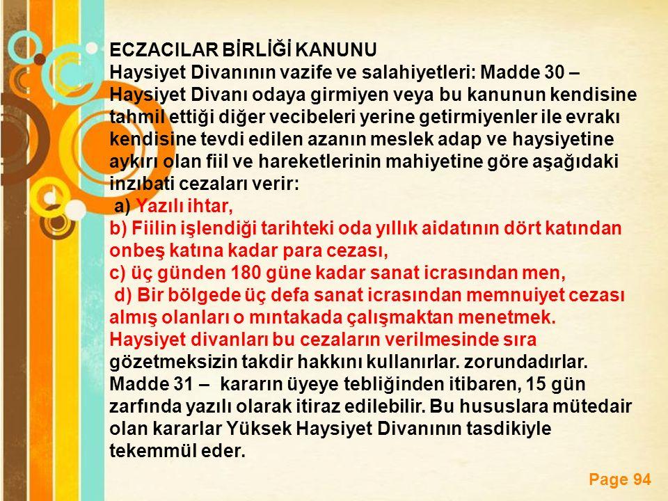 ECZACILAR BİRLİĞİ KANUNU