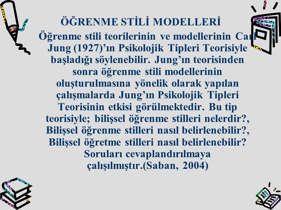 ÖĞRENME STİLİ MODELLERİ