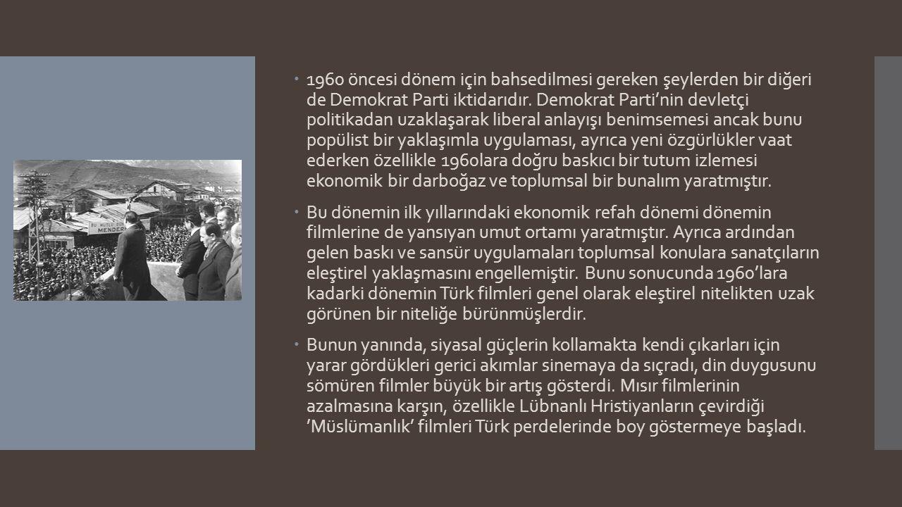 Başlangıcından 1960'lara Kadar Türk Sineması