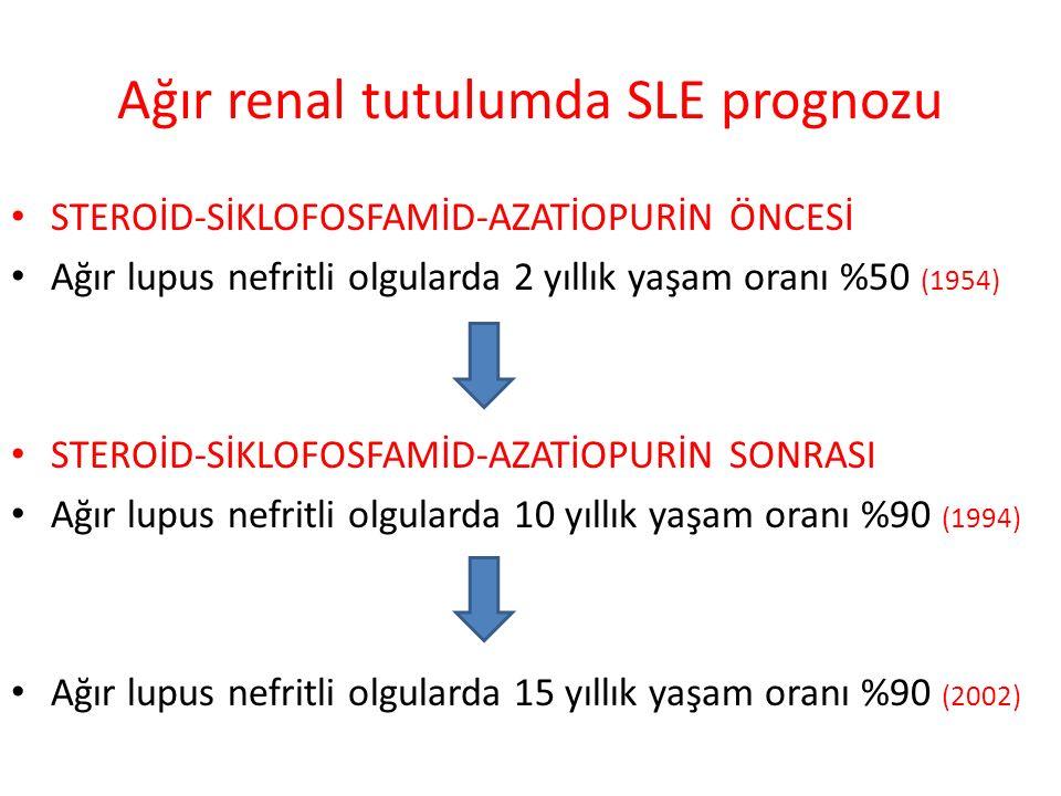 Ağır renal tutulumda SLE prognozu