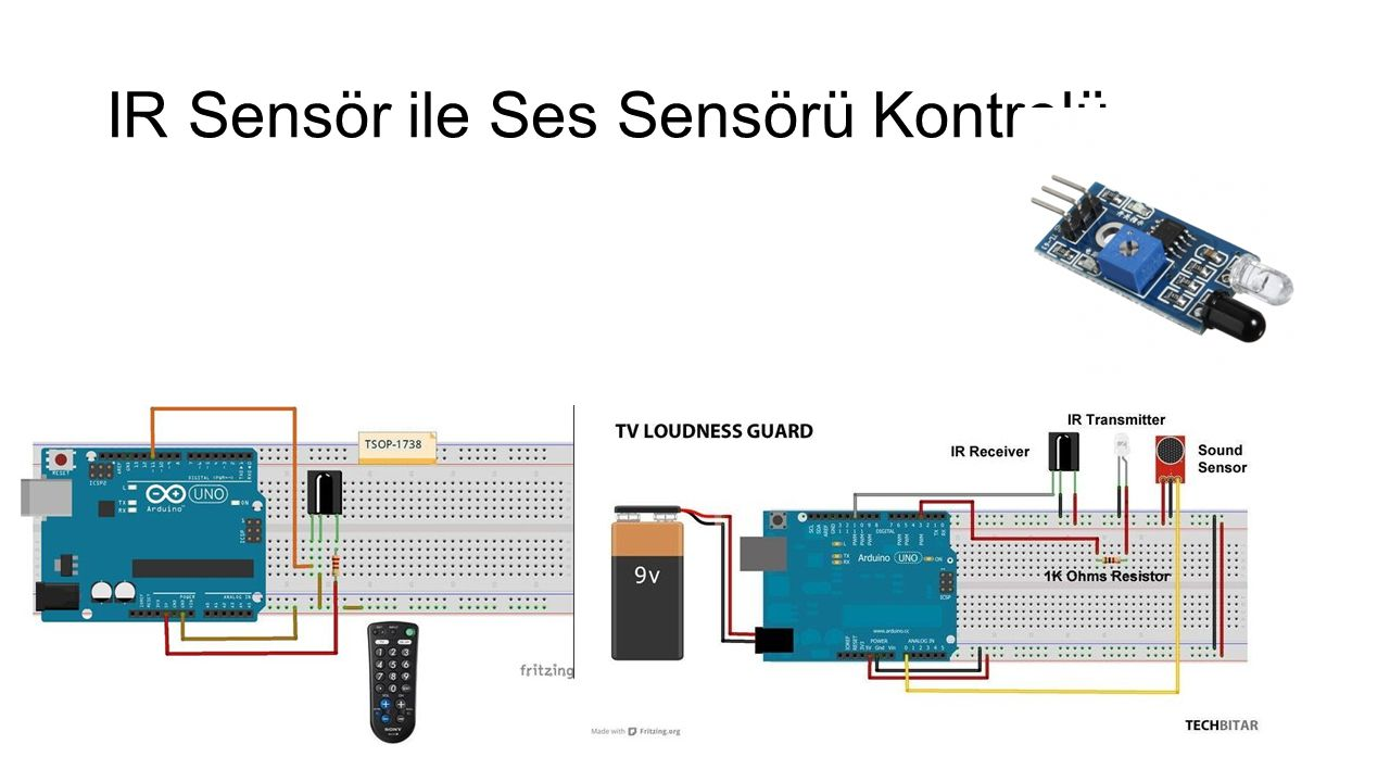 IR Sensör ile Ses Sensörü Kontrolü