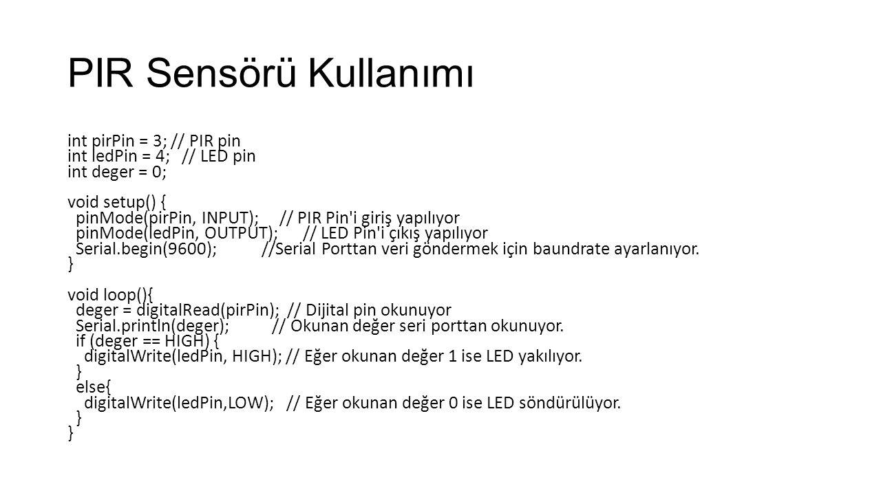 PIR Sensörü Kullanımı