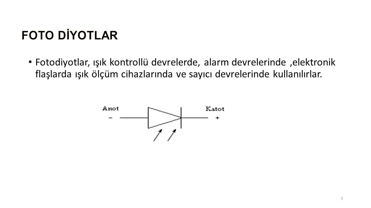 FOTO DİYOTLAR