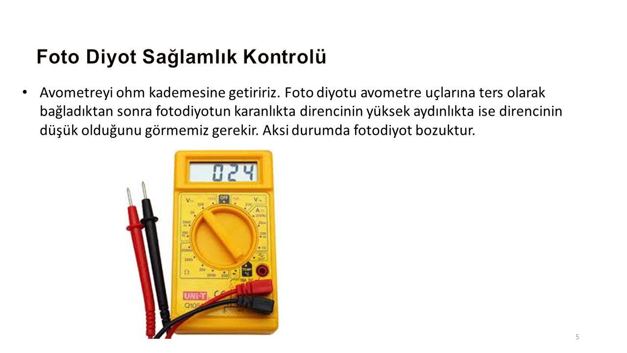 Foto Diyot Sağlamlık Kontrolü