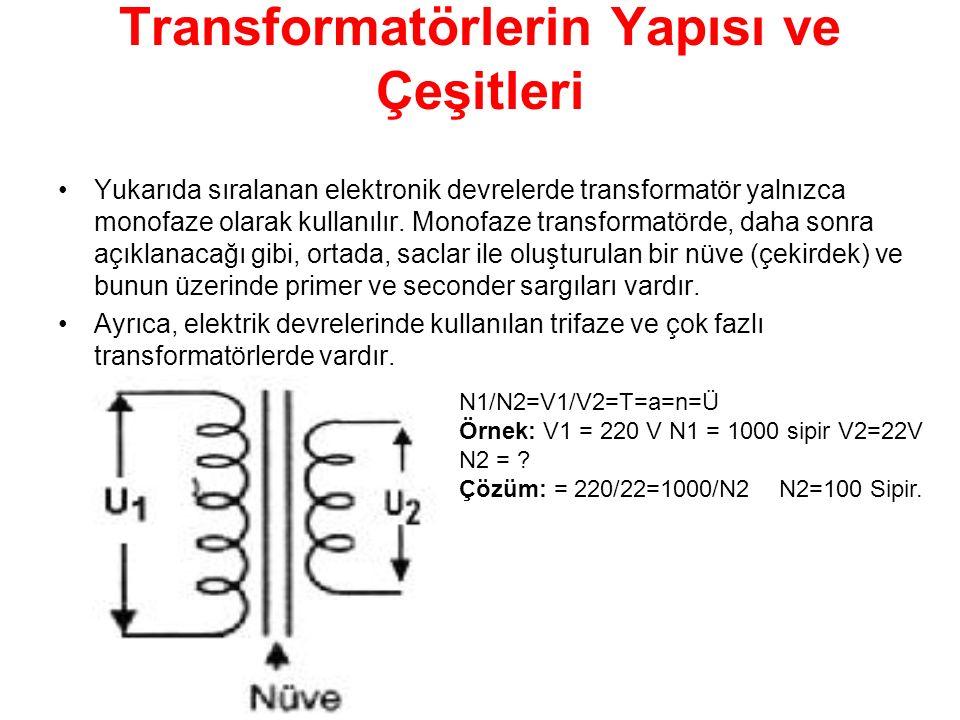 Transformatörlerin Yapısı ve Çeşitleri