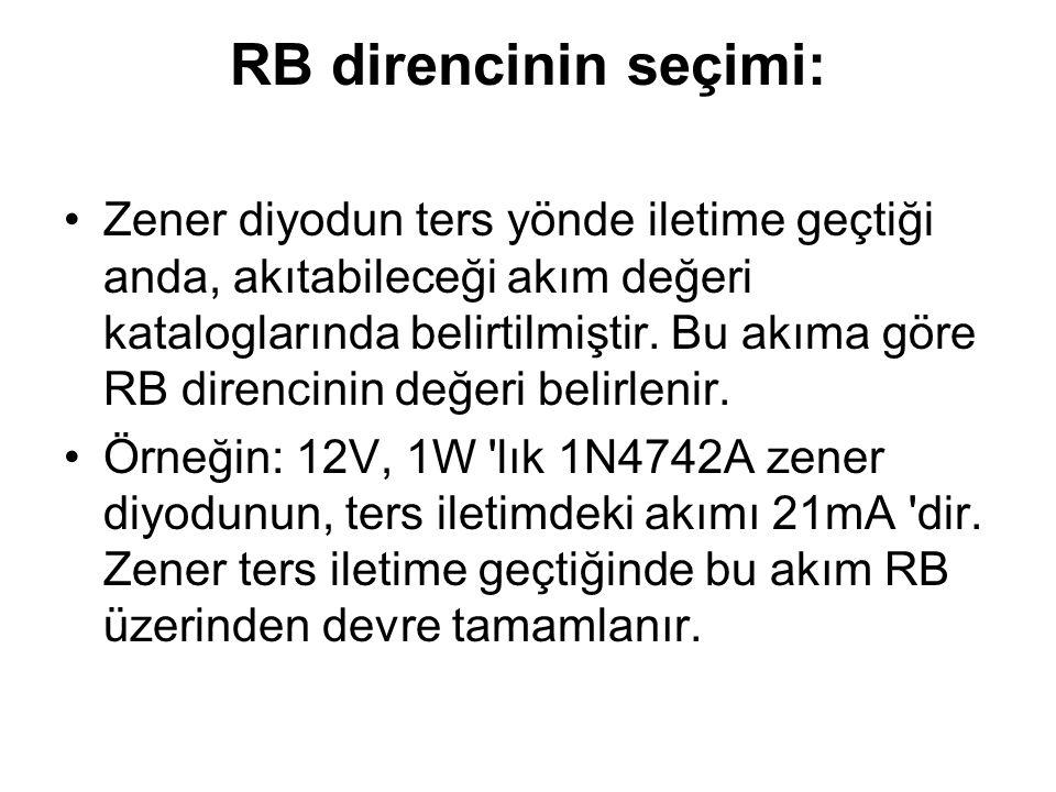 RB direncinin seçimi: