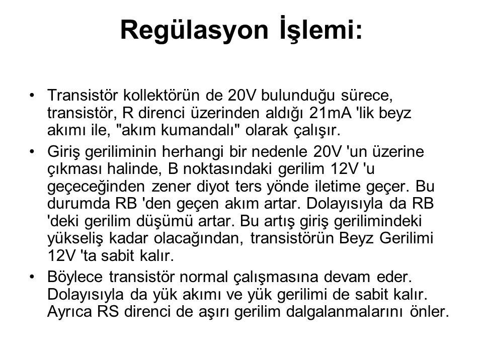 Regülasyon İşlemi: