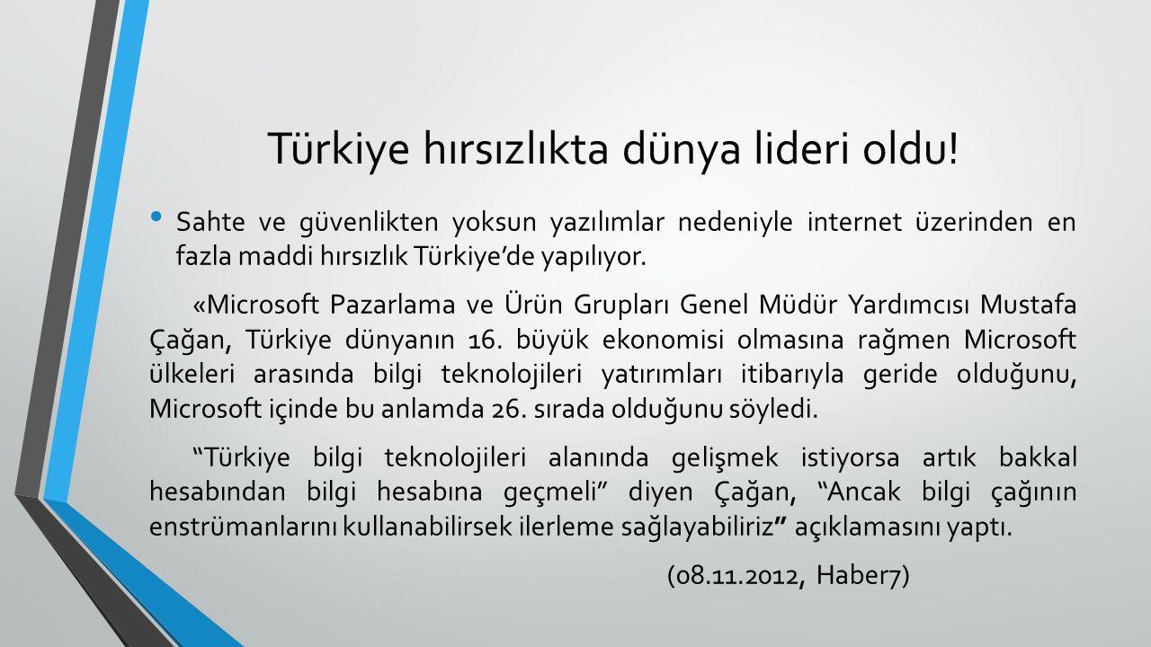 Türkiye hırsızlıkta dünya lideri oldu!