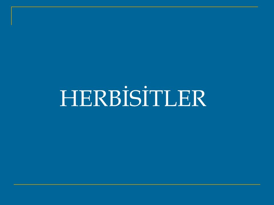 HERBİSİTLER
